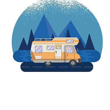 Let's Get Lost -  RV Camper Camping Moon  by ZippyThread