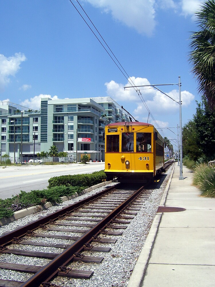 Ybor City Trolley  by JenicaBelle