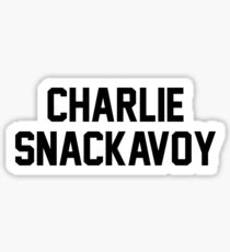 Charlie McAvoy? More like Charlie SnackAvoy, Am I Right? Sticker