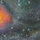 Golden Nebula Watercolor by rachro