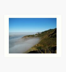 Fog Over The Big Sur Coast Art Print
