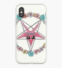 flowery Baphomet iPhone-Hülle & Cover