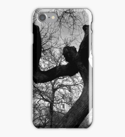 Creepy Faced Tree iPhone Case/Skin