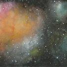 Rainbow Nebula Space Art by rachro