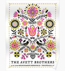 The Avett Brothers Artwork Mc Menamins Edgefield Troutdale, OR Poster