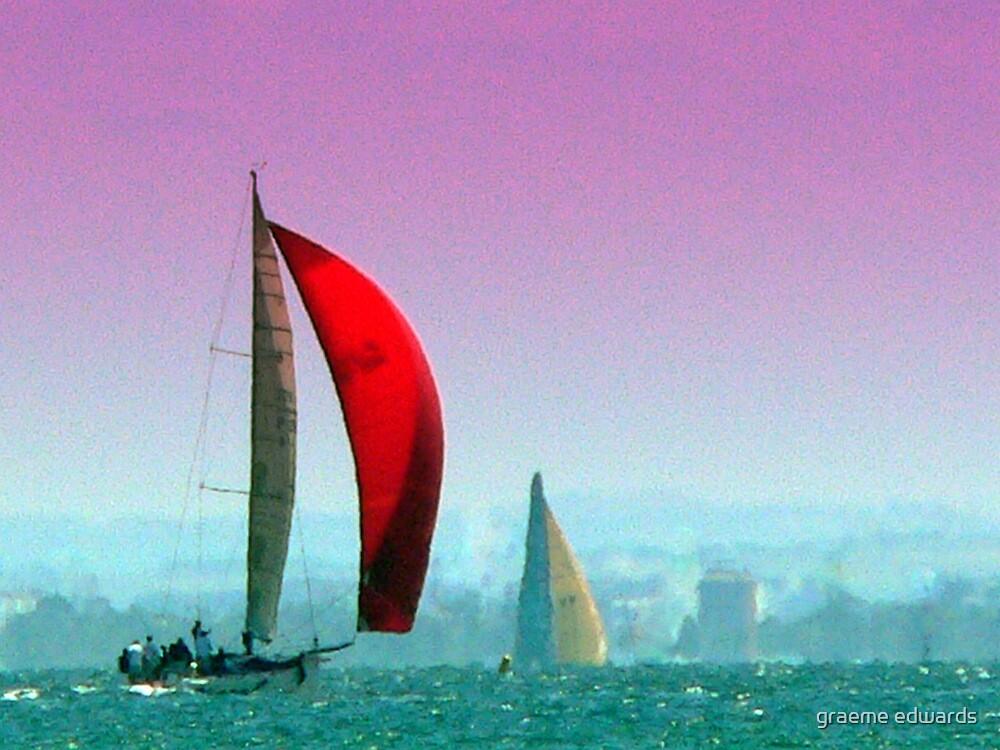 Painted Sailing Ship-Port Philip Bay,Australia by graeme edwards