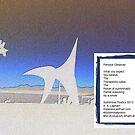 Calder-Olympic Sculpture Park-Pensive Observer-Poem by Kenneth S Lapham