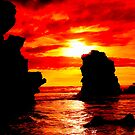 Fiery Sunset-Mornington Peninsula,Victoria by graeme edwards