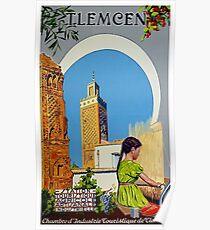 Weinlese-Reise-Plakat Frankreich - Algerien - Tlemcen Poster