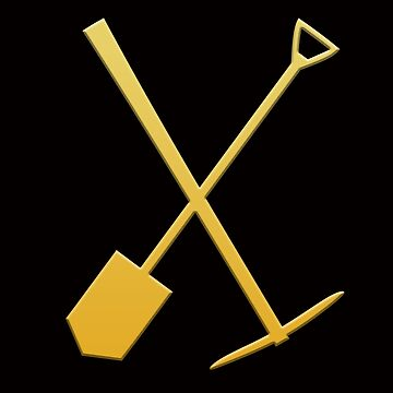 Gold pick & shovel by LisaRent