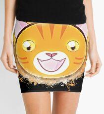Orange tabby cat orange tabby glowing Art Mini Skirt