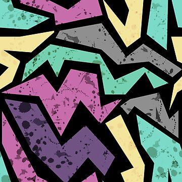Abstract geometric seamless grunge pattern, modern print by fuzzyfox