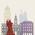 Split Skyline Poster von paulrommer