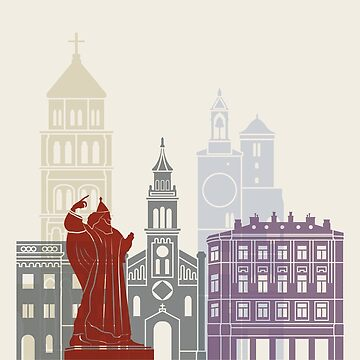 Split skyline poster by paulrommer