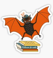 Fledermaus Oma in der Bibliothek Sticker