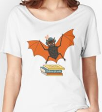 Bat granny in the library  Women's Relaxed Fit T-Shirt