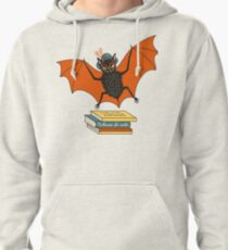 Bat granny in the library  Pullover Hoodie