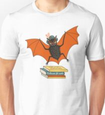Bat granny in the library  Unisex T-Shirt