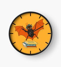 Bat granny in the library  Clock