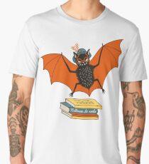 Bat granny in the library  Men's Premium T-Shirt