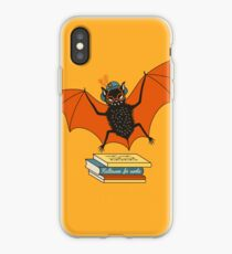 Bat granny in the library  iPhone Case