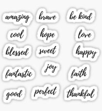 Positive Worte Sticker