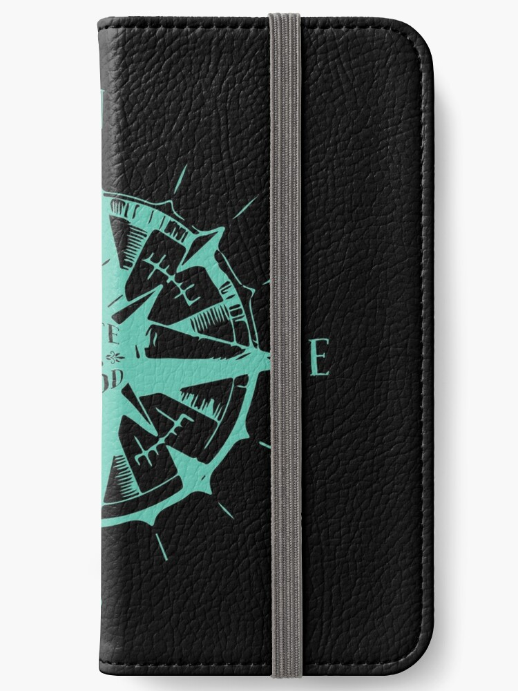 ''Life is Good' Cool Compass Rose Sailing Gift' iPhone Wallet by leyogi
