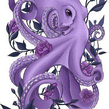 Floral Octopus by SamanthaSawyer