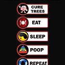 arborist's life cure trees sleep poop repeat gift novelty Birthday t-shirt by Chinaroo