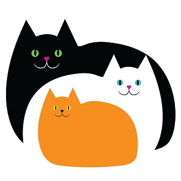 Fat Cat Family on Halloween by AntiqueImages