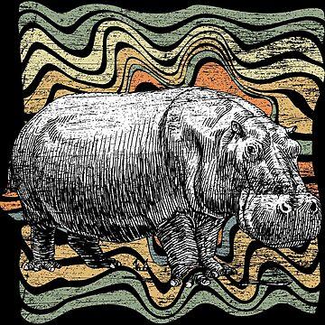 Hippo wilderness by GeschenkIdee