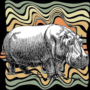 Hippopotamus wilderness by GeschenkIdee