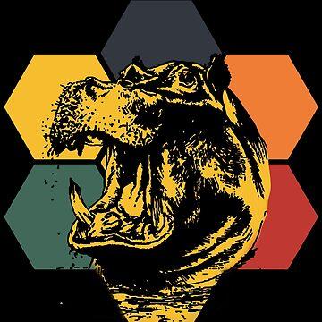 Hippopotamus threat by GeschenkIdee