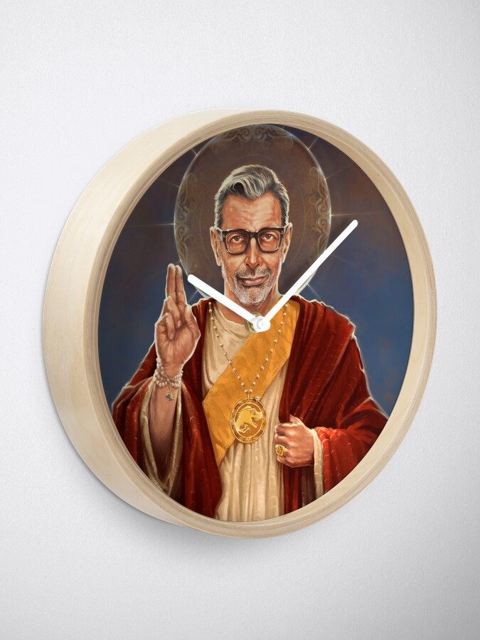 Alternate view of Saint Jeff of Goldblum Clock