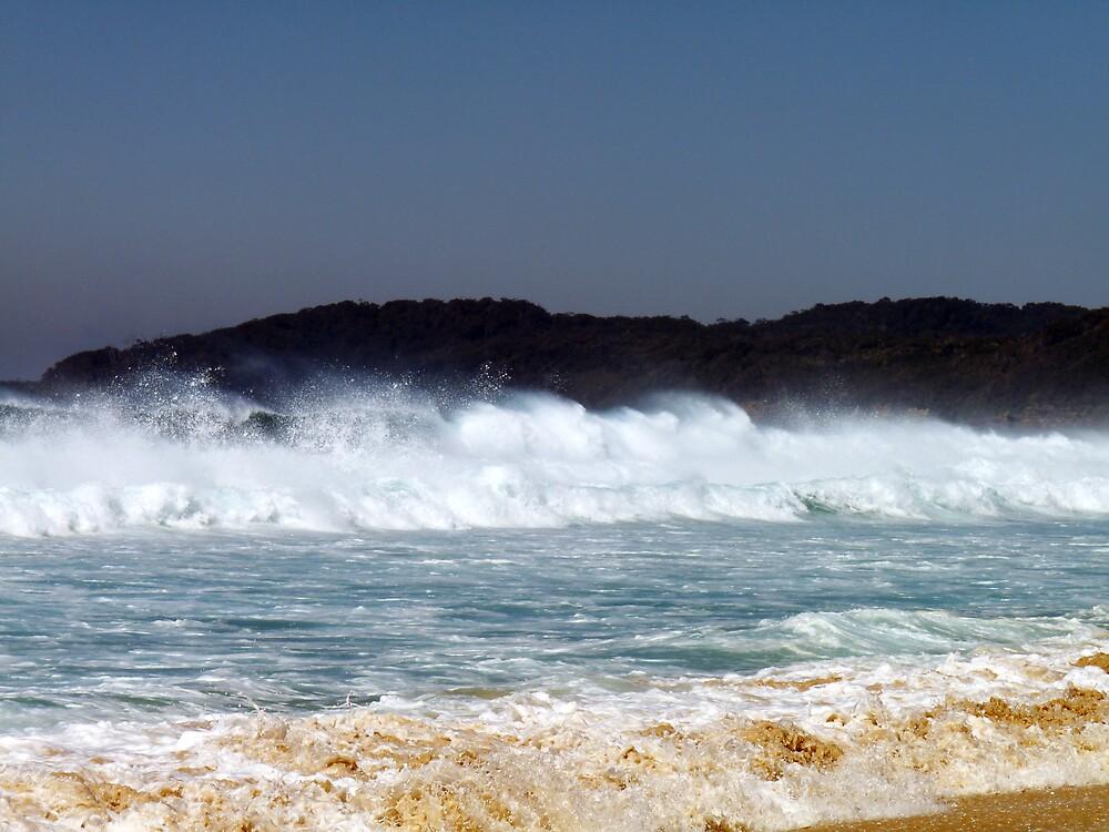 Wind-blown Waves, Smith's Lake, Australia by nikivandersmagt