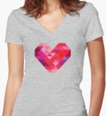 Prism Heart Women's Fitted V-Neck T-Shirt