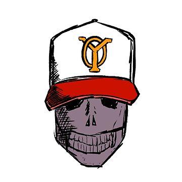 Baseball Skull by simokava