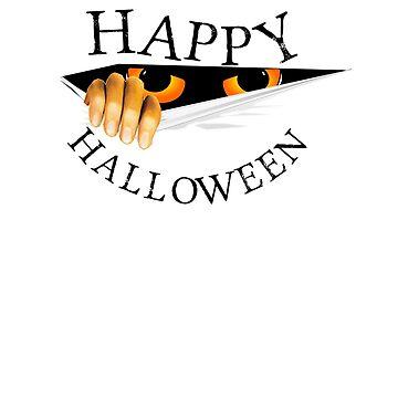 Happy Halloween Secret Monster Tshirt by CliqueBank