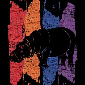 Hippo animal by GeschenkIdee