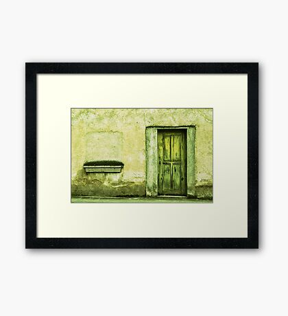 Yellowish-Green Framed Print