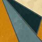 Geometrical Shapes in Retro Colors Orange Blue Shades by ibadishi
