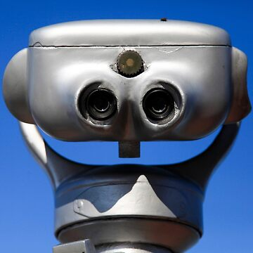 coin operated Viewing telescope aimed at a blue sky by PhotoStock-Isra