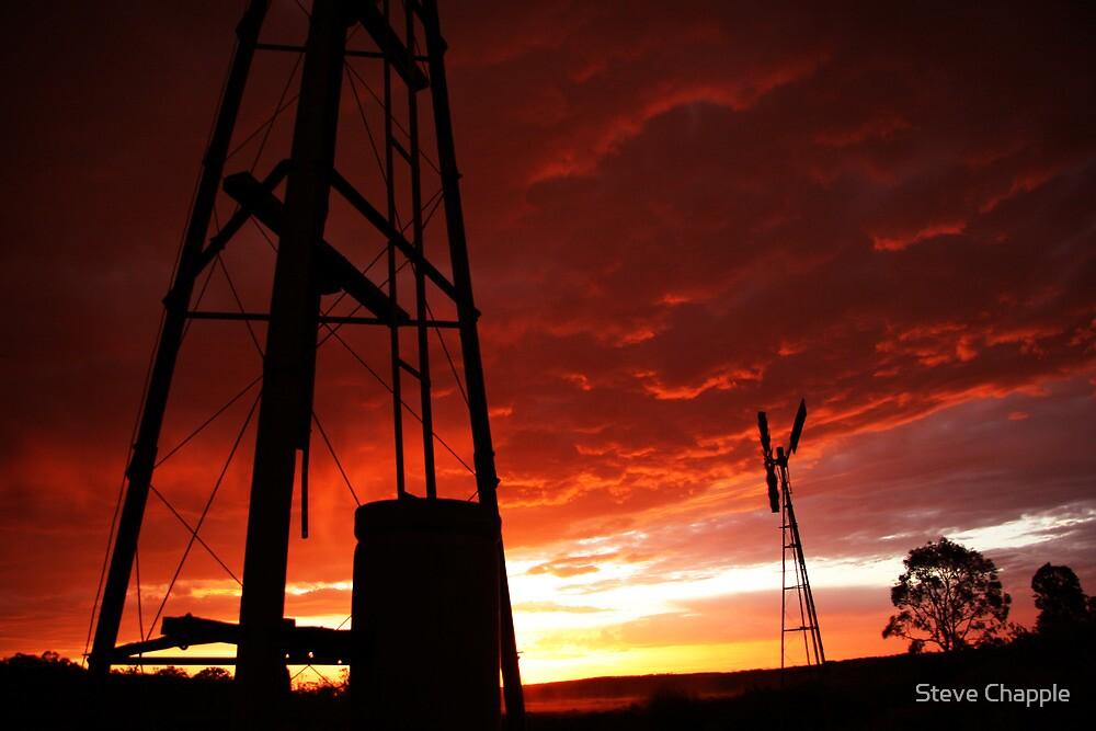 Windmill Sunset by Steve Chapple