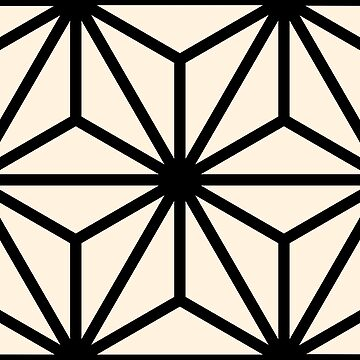 Geometric Pattern: Art Deco Star: Black/Cream by redwolfoz