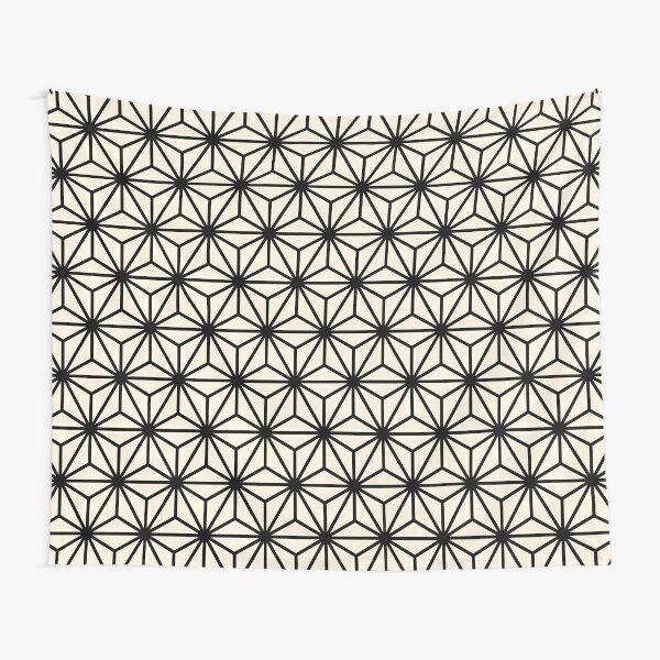 Geometric Pattern: Art Deco Star: Black/Cream Tapestry