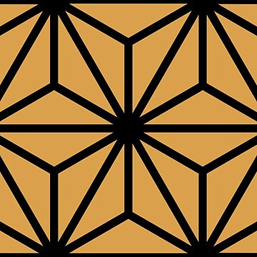 Geometric Pattern: Art Deco Star: Black/Gold by redwolfoz