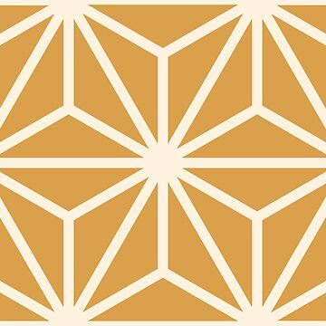 Geometric Pattern: Art Deco Star: Cream/Gold by redwolfoz