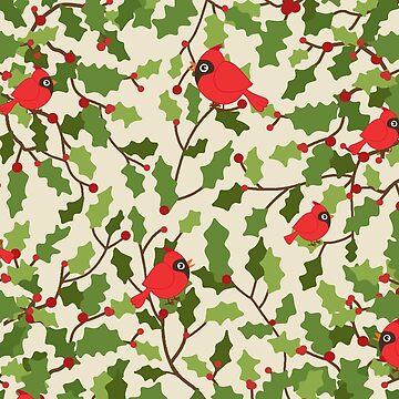 Christmas birds pattern by ValentinaHramov
