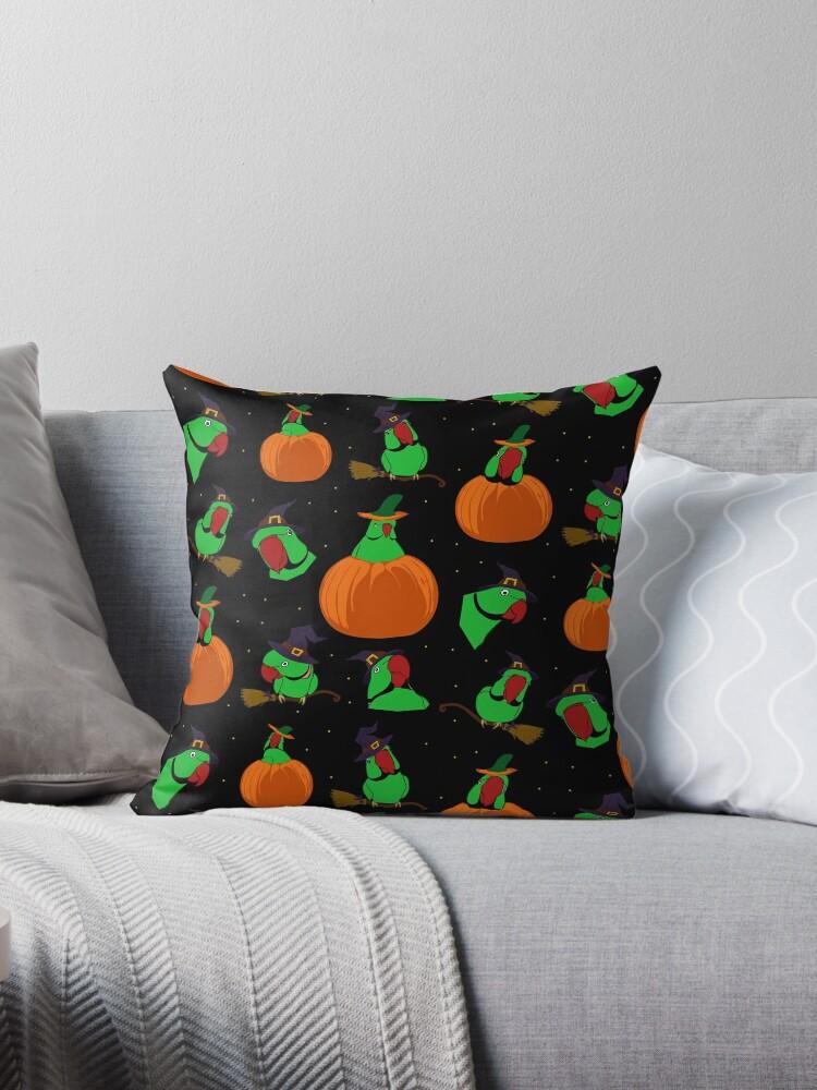 green indian ringneck halloween pattern by FandomizedRose