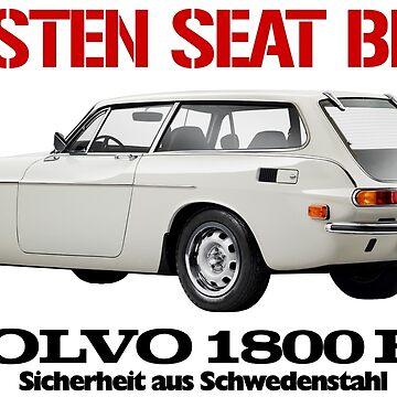 VOLVO 1800 ES (BLACK TEXT) by ThrowbackMotors
